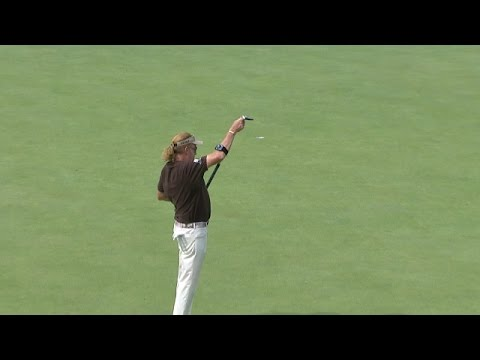 Miguel Angel Jimenez channels his inner Chi Chi at Bridgestone