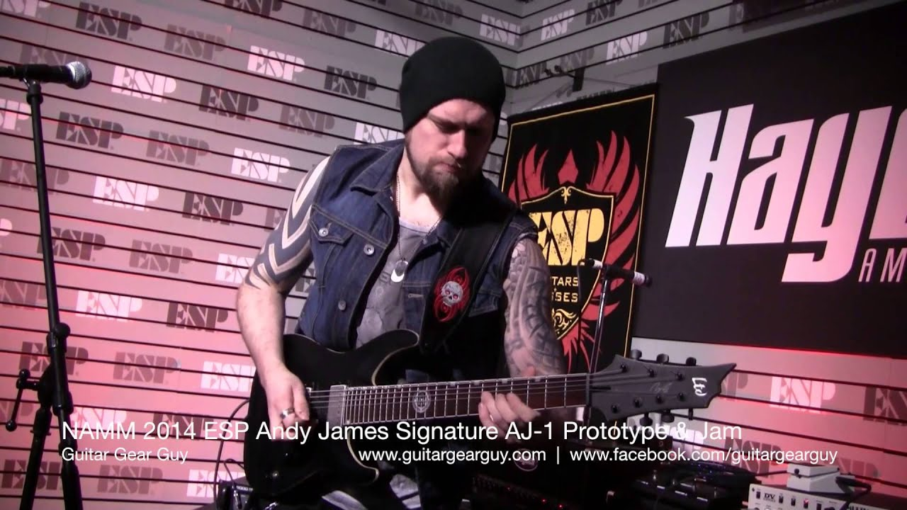 Andy James Wallpaper Namm 2014 Esp Andy James Jam