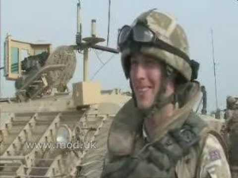 UK troops speak about new patrol vehicles in southern Iraq