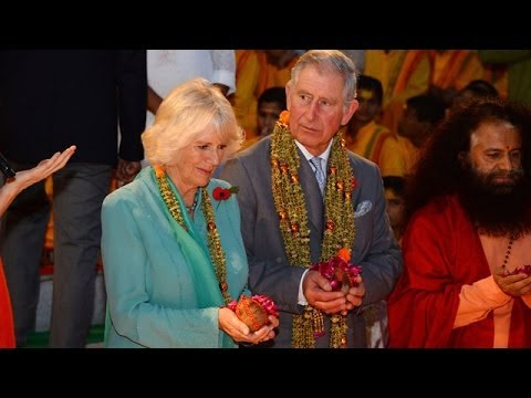 Prince Charles and Camilla visit Hindu prayer ceremony in India...