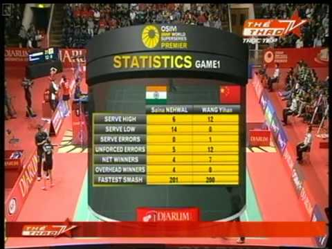 Badminton Indonesia Open 2011 WSF Wang Yihan CHN vs Saina Nehwal IND P2