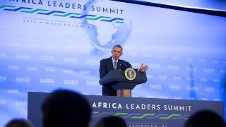 President Obama Holds a Press Conference at the U.S.-African Leaders Summit