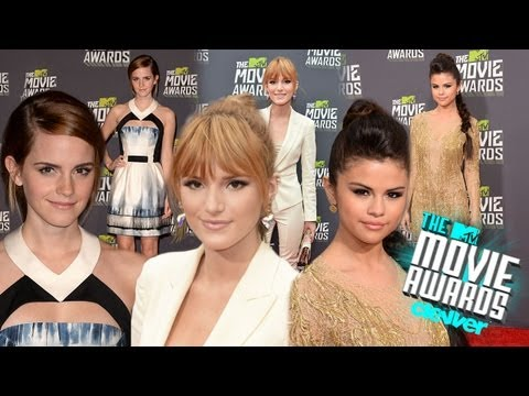 Selena Gomez, Emma Watson, Bella Thorne Red Carpet Fashion 2013 Mtv Movie Awards video