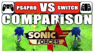 Sonic Forces | COMPARiSON | PS4 PRO VS. Switch | 60 VS 30 FPS