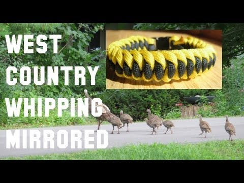 How to make a West Country Whipping Mirrored Paracord Bracelet (3/8
