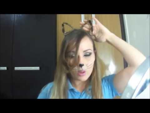 Cabelo: Orelhas de gatinho para o Halloween