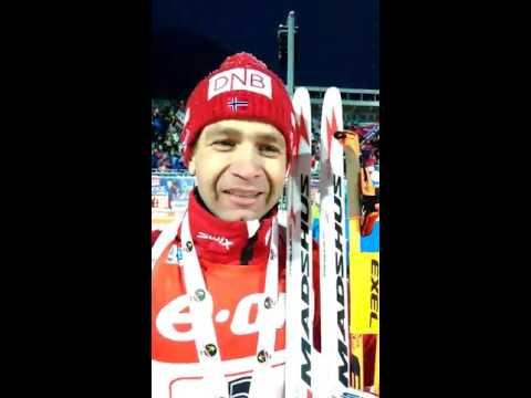 Legendary Ole Einar Bjorndalen congratulated with the World Snow Day