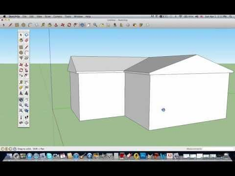 How to Make a Intermediate(Cool) House In Sketch Up: Part 2
