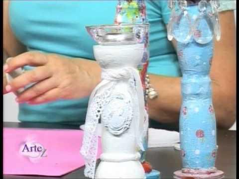 C mo hacer candelabros con envases reciclados youtube - Como hacer candelabros ...