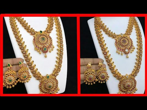 Latest Gold Jewellery Design Set | weight and price | Necklace Light weight Jewellery