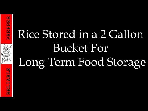 Food Storage: Rice in 2 Gallon Bucket for Long Term
