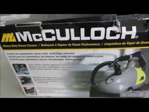 Review of the McCulloch Heavy-Duty Steam Cleaner PART I: Product Overview and Setup