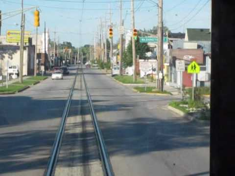 South Shore Line: Street Running in Michigan City Indiana