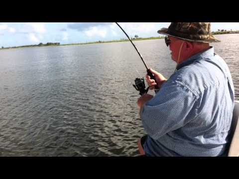 Big Bill Catching Redfish, Hopedale, LA