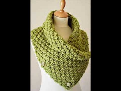 Knitting Pattern Scarf Neck Warmer : Chunky Knit Neck Warmer - Chunky Knitting Pattern Presentation - YouTube