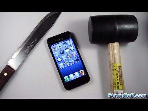 Apple iPhone 5 Hammer Drop & Knife Scratch Test