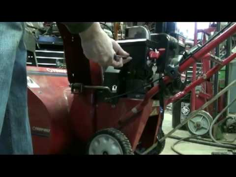 Tecumseh Snow King Carburetor Repair Video on Troy-Bilt Snow Blower part #1
