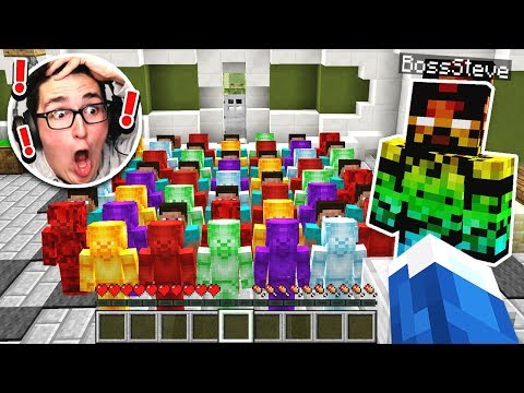 BOSS STEVE SHOWS ME THE STEVE ARMY IN MINECRAFT!