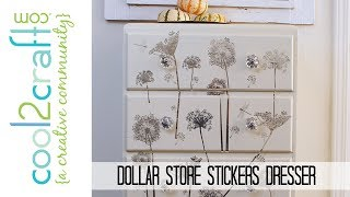 Dresser Makeover: Dollar Store Stickers