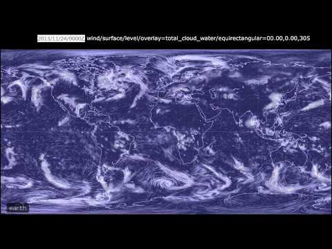 2013-11 - 12 Total Cloud Water from the Global Forecast System