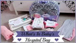 What's In My Baby's Hospital Bag!