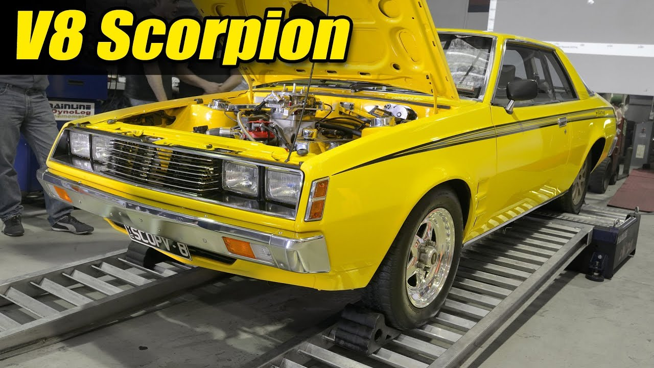 V8 Mitsubishi Scorpion Dyno Youtube