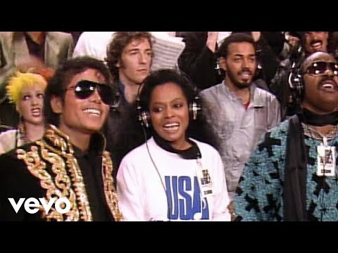 USA for Africa - We Are The World (w/M.Jackson) + Lyrics HQ Music Videos