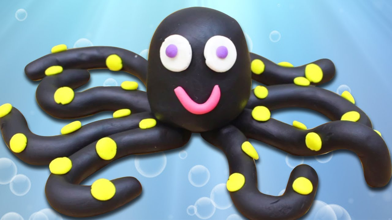 How To Make Playdough Octopus - YouTube