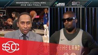 Stephen A. Smith and Jamie Foxx banter about LeBron James criticism   SportsCenter   ESPN