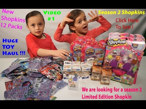 New Season 2 Shopkins 12 Packs Opening! Looking For A Season 2 Limited Edition! New TOY Haul Video 1