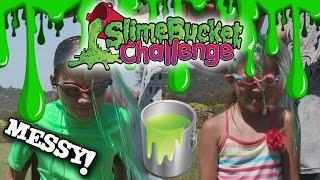 SLIME BUCKET CHALLENGE!!! Kids Get Slimed for Charity!