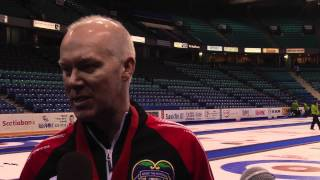 2012 Tim Hortons Brier Final Media Scrum