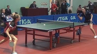 Yuliya PROKHOROVA vs Olga BARANOVA FINAL Moscow Championships 2014 Table Tennis Table Tennis