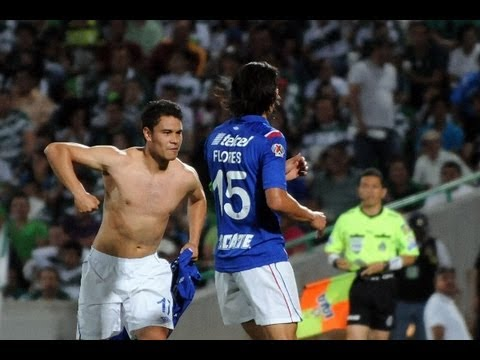 Golazo Pablo Barrera y Gol G.Flores - Cruz Azul vs Santos Semifinal Ida