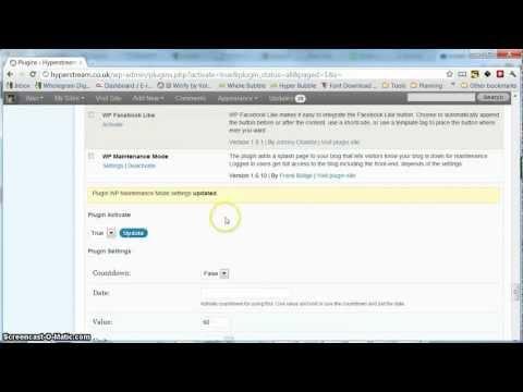 How to enable Wordpress Maintenance Mode