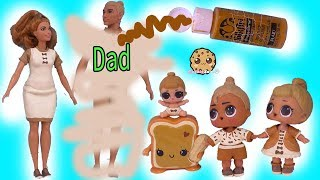 DIY LOL Surprise Peanut Butter DAD Makeover ! Real Easy Barbie Doll Family Craft Video