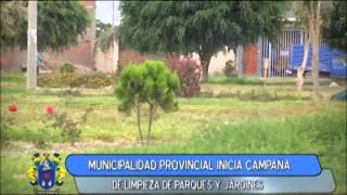 CAMPAÑA DE LIMPIEZA DE PARQUES Y JARDINES