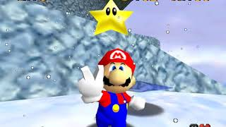 gameplay super Mario 64 / cool, cool mountain