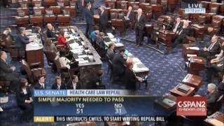 SENATE VOTES TO REPEAL OBAMACARE 1