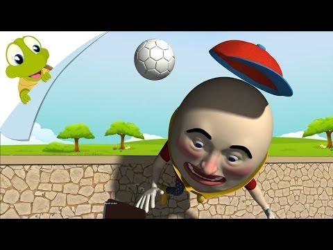 Humpty Dumpty sat on a wall 3D Nursery Rhyme with Lyrics   Animated Song for Kids