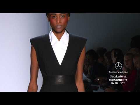 CHRISTIAN COTA FALL 2011 COLLECTION, MERCEDES-BENZ FASHION WEEK