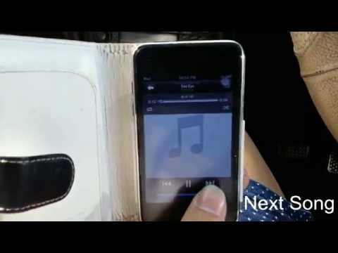 Play musics from iPod using an aux hacked old Clarion car stereo