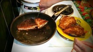 Как приготовить Камбалу рецепт второго блюда из рыбы жареная на сковороде вкусно ужин быстро видео