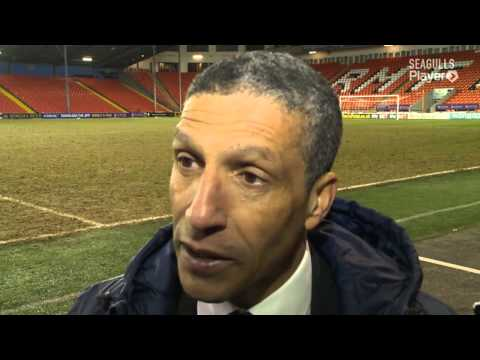 CHRIS HUGHTON'S BLACKPOOL REACTION