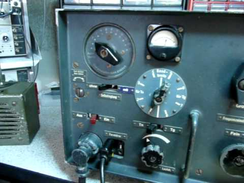 German Wehrmacht Military WWII Radio Receiver Kw.E.a after restoration part 2 - operation