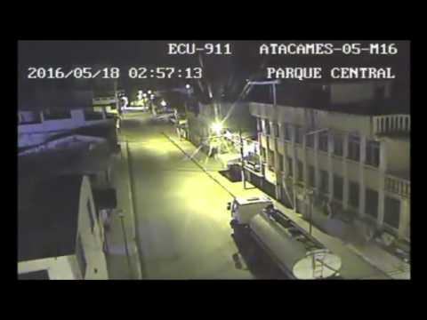 ECUADOR - 6.7 QUAKE (Surveillance video)