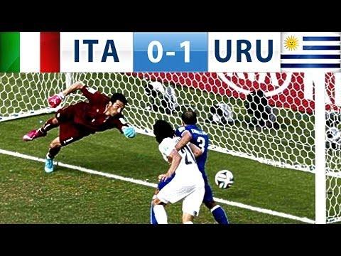 Italia-Uruguay 0-1 il gol di Godin beffa Buffon ai Mondiali Brasile 2014