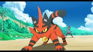 Ash's Litten Evolves Into Torracat [ Pokemon Sun & Moon ] Episode 63