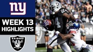 Giants vs. Raiders   NFL Week 13 Game Highlights