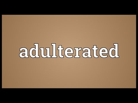 Header of Adulterated